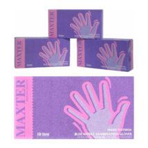 Kék kesztyű érzékeny bőrűek számára, latex- és púdermentes, kék, (100 db) (L)