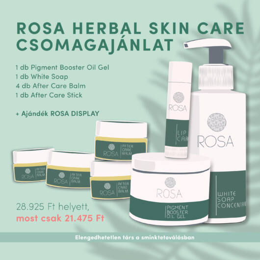 Rosa Herbal Skin Care csomag + AJÁNDÉK Display